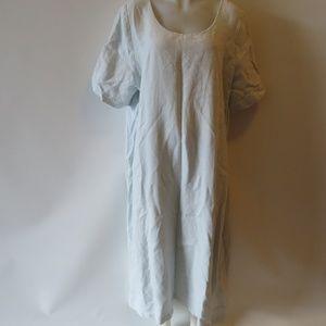 ESKANDER 100% LINEN LT BLUE SHORT SLEEVE DRESS 2/E